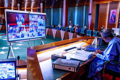 Buhari's first ever virtual meeting - newsheadline247.com