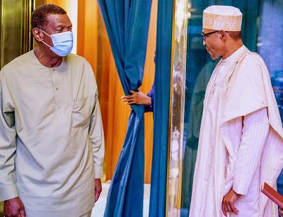 Just In: Buhari, RCCG Pastor Adeboye in closed door meeting - newsheadline247.com