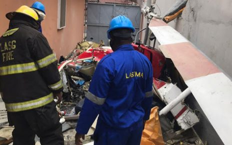 Just In: Helicopter crashes into building in Ikeja, Lagos - newsheadline247.com