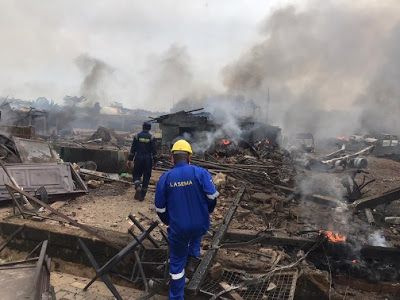 30 People Injured as gas explosion destroyed 23 buildings, 15 vehicles in Lagos - newsheadline247.com
