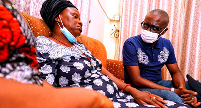 Gov Sanwo-Olu visits widow of man hit by bullet during #EndSARS in Surulere - newsheadline247.com