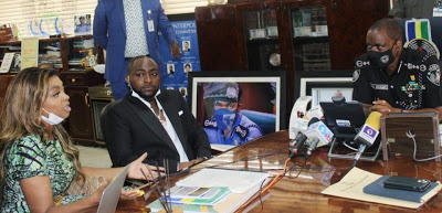 #EndSARS: IGP pledges to investigate videos of brutality as music star Davido visits Police boss