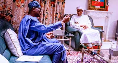 #EndSARS: Gov Sanwo-Olu meets Buhari, Presents Report on Destruction by Hoodlums in Lagos - newsheadline247,