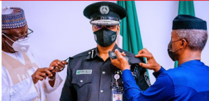 Osinbajo decorates acting IGP Baba with new rank