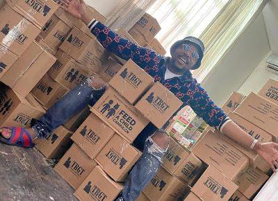 Quintessential philanthropist, Osibodu 'the BadGuyToba' feeds over 5000 children in Lagos - newsheadline247.com